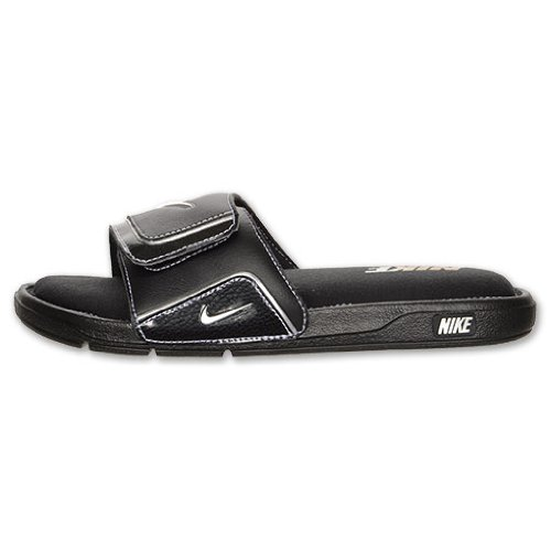 Nike Men's Comfort Slide 2, Black/Metallic Silver/White, 7 D-Medium