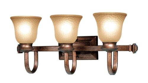 Woodbridge Lighting 53019-MBZ Dresden 3-Light Bath Light, Marbled Bronze ()