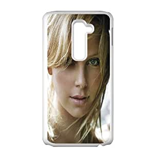LG G2 Cell Phone Case White_Charlize Theron (2) Nwwzx