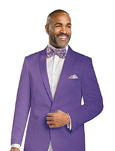 E. J. Samuel Formal Mens Jacket Diamond Design Blazer J14 Dinner Summer Party (XXXL (Size 54-56), Purple) by E. J. Samuel