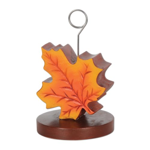 Beistle 90657 Fall Leaf Photo/Balloon Holder, Pack of 6 Fall Leaves Photo