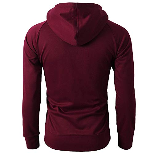 Hiver Rouge Printemps Vin Tops Zipper Blouse Manches Fashion Longues Sweatshirt✪robemon Automne Sport Hoodie Pullover Homme p1WnBwS