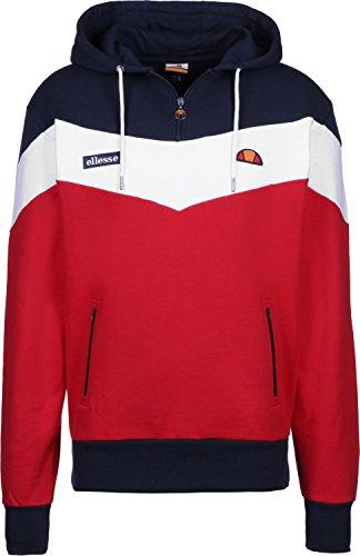 ellesse Men's Caserta Pullover Hoodie, Red, X-Large