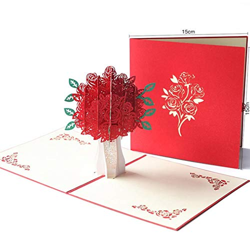 Happiness Business Holiday Card - Yealsha 3D Blessing Card Mother's Day Card Creative 3D Flower Greeting Card Birthday Festival Handmade Card