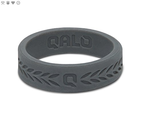a8bf811c68d14 QALO Men's Charcoal Step Edge Q2X Silicone Ring Size 14 - MSC14 ...
