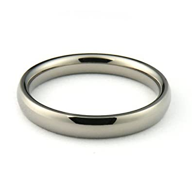 titanium mens and womens plain wedding bands 3mm half round comfort
