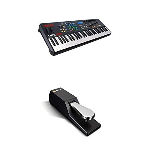 Beat Maker Bundle – 61 Key USB MIDI Keyboard Controller With 16 Drum Pads, Sustain Pedal and Pro Software Suite – Akai…
