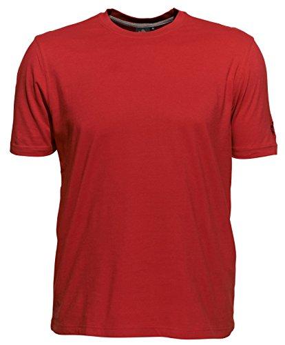 Ahorn Basic T-Shirt rot 5XL-68/70