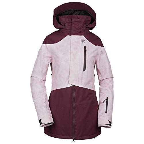 (Volcom Women's Pine 2L Thermal Defense Snow Jacket, Merlot, Medium)