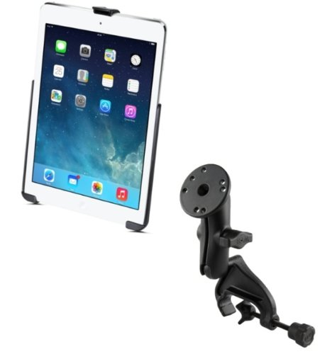 Clamp Composite Ipad - Heavy Duty Yoke Clamp Aircraft Airplane Mount Holder Fits Apple iPad 5 Apple iPad Air 1 2 & Pro 9.7