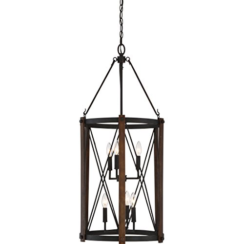Quoizel BRO5204MK Baron Lantern Foyer Pendant Lighting, 6-Light, 360 Watts, Marcado Black (39