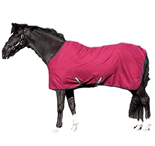 (Horseware Rambo Techi-Waffle Cooler Blanket Burgundy/Black 78)