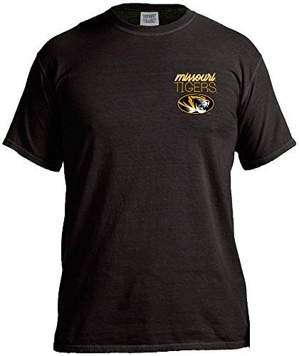 Missouri Ladies T-shirt - NCAA Missouri Tigers Women's Laces & Bows Color Short Sleeve T-Shirt, Large,Black