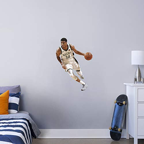 FATHEAD NBA Milwaukee Bucks Giannis Antetokounmpo Officially Licensed Removable Wall Decal, Multicolor, X-Large