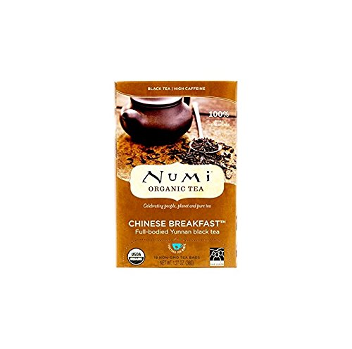 Numi Organic Tea Chinese Breakfast, 18 Count Box of Tea Bags (Pack of 3) Yunnan Black ()