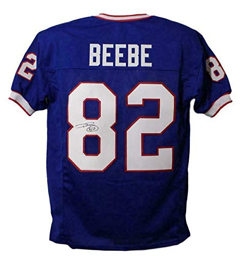 Don Beebe Autographed Jersey - Blue XL 13016 - Autographed NFL Jerseys