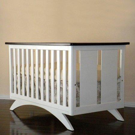 Eden Baby Madison Collection Crib, White/Espresso (Expresso Crib And Dresser Sets)