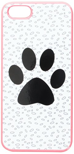 Graphics and More Paw Print of Awesomeness Black White Snap-On Hard Protective Case for iPhone 5/5s - Non-Retail Packaging - Pink