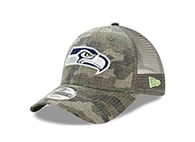 Seattle Seahawks Camo Trucker Duel New Era 9FORTY Adjustable Snapback Hat / Cap from New Era