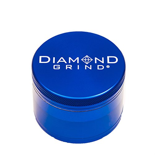 (Diamond Grind 4 Piece Aluminum Herb Grinder with screen 63mm (2.50