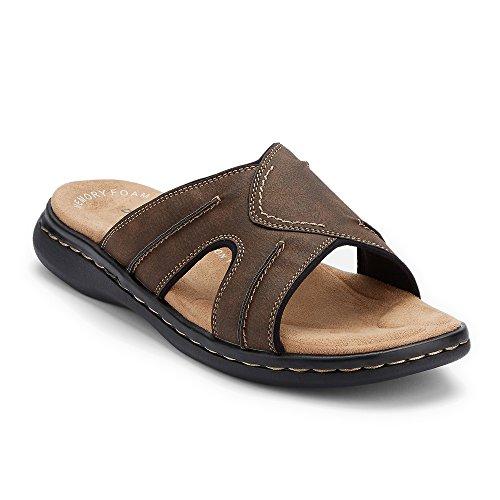 (Dockers Mens Sunland Casual Slide Sandal Shoe, Dark Brown, 10)