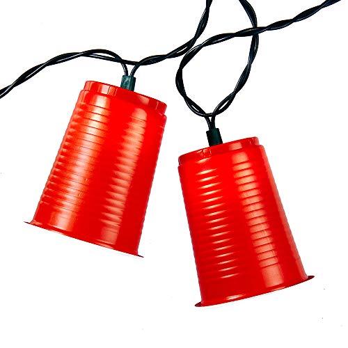 Kurt Adler UL1882 UL 10-Light Party Cup Light Set, Red]()