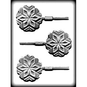 Snowflake Sucker Hard Candy Mold- Package of 3 by CK Products