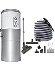OVO Powerful Central Vacuum System - Heavy Duty Central Vac with Hybrid Filtration - 35L or 9.25Gal - 700 Airwatts Power Unit
