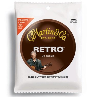 Martin MM13 Retro Acoustic Guitar Strings Medium Light 13-56