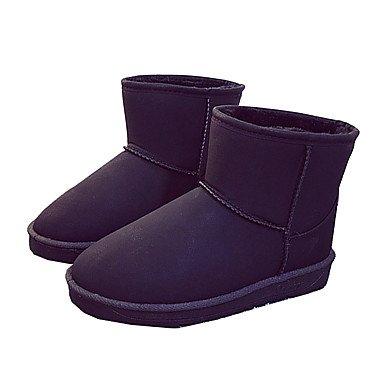 De Botas Cuero Mujer Zapatos Toe De Moda Tacón Plano Botas Botas De EU37 5 US6 Otoño Invierno Ronda De De Botines Comfort 7 Novedad Pelusas De Nieve CN37 5 RTRY Nubuck 5 Forro Tobillo UK4 SYqXxHnq