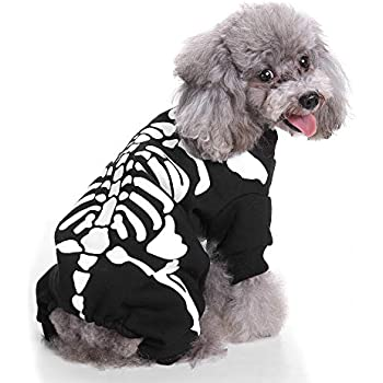 9ab18dadadc1 Halloween Pet Shirt Small Dog Clothes Pet Puppy Cat Costume Apparel (S,  Black)