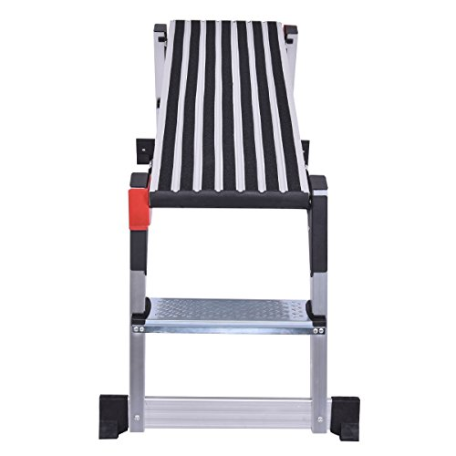 Giantex Aluminum Platform Non-Slip Folding Work Bench Drywall Stool Ladder 330lbs Capacity by Giantex (Image #2)