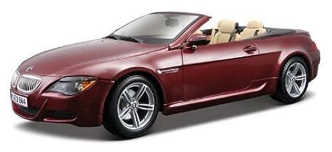 Maisto Die Cast 1:18 Scale Metallic Red BMW M6 Cabriolet