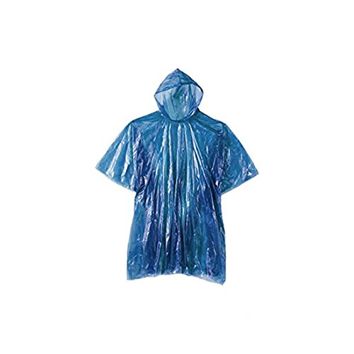 20 Mac Camping Blue Waterproof Cape Or Theme Disposable Reusable X Emergency Coat and Festival More Rain Poncho Parks wrR0wf7q