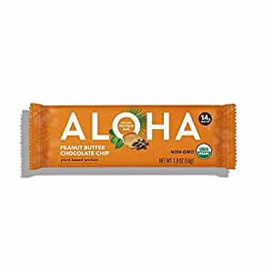 ALOHA Organic Protein Bar, Peanut Butter Chocolate Chip, 12 Count (Packaging May Vary)