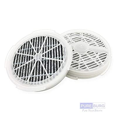 Pureburg 2-Pack Replacement True HEPA and Activated Carbon Filters for SHENGDELONG RIGOGLIOSO GLMeleden Houzetek DHS WSTA JINPUS SHD Acehome Desktop Portable Air Purifier Filter