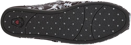 Yoga BOBS Plush Womens BOBS Flat Ballet Skechers Black Dog xztHIEwWvq