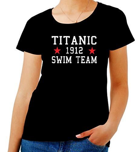 Team Titanic T Nero TR0138 Shirt Swim Donna 8Txwq87pYR