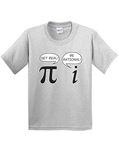 Mom Ash Grey T-shirt (Get Real Be Rational Funny Math Geek Sarcastic Funny T Shirt L Ash)