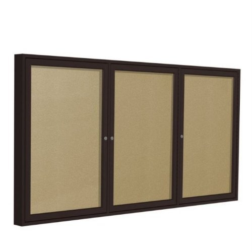 Ghent 48 x 72 Inches Outdoor Bronze Frame Enclosed Vinyl Bulletin Board, Caramel , Made in the USA by Ghent by Ghent