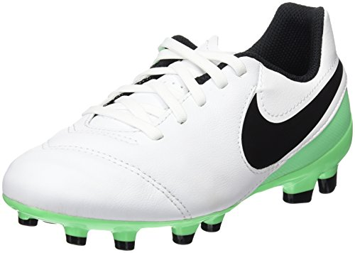 Nike Jr Tiempo Legend Vi Fg, Zapatillas de Fútbol Unisex Niños Blanco (White/black-electro Green)