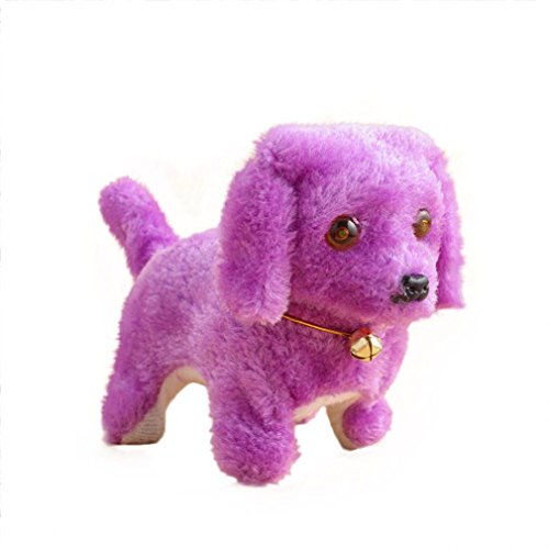 Balakie Cute New Robotic Cute Electronic Walking Pet Dog Puppy Kids Toy With Music Light Xmas Gifts for Kids (purple)