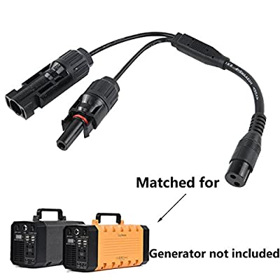 Solar Panel Connector Adapter Cable MC4 For Renogy, HQST, ALLPOWERS 100 Watts Solar Panel and EasyFocus 500W or 300W Solar Generator