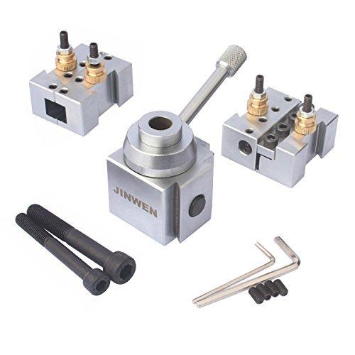 Jinwen Tooling Package Mini Lathe Quick Change Tool Post & Holders Multifid Tool Holder, Steel Holder