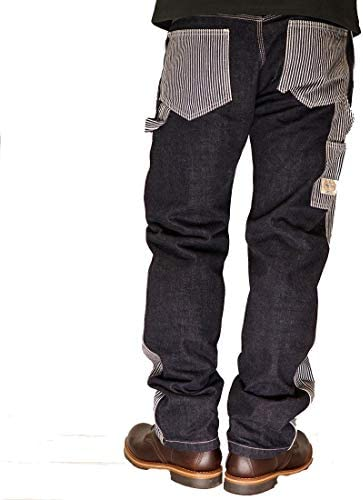 KOJIMA GENES ヒッコリーコンボ ペインターパンツ アメカジ ストライプ ストレートパンツ 切り替え バイク 日本製 メンズ MadeinJapan RNB-1015