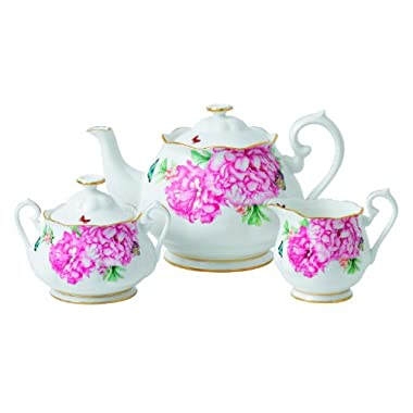 Royal Albert Friendship Teapot, Sugar and Creamer Set Designed by Miranda Kerr
