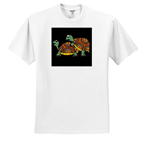 Price comparison product image All Smiles Art Funny - Funny Cute Turtles Playing Leap Frog Cartoon - T-Shirts - Youth T-Shirt Med(10-12) (ts_256448_13)