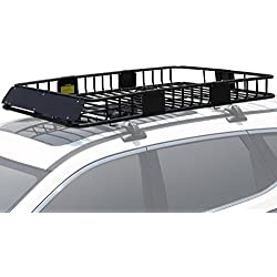 "Leader Accessories Roof Rack Cargo Basket with 150 LB Capacity Extension 64""x 39""x 6' Car Top Luggage Holder Carrier Basket Fit for SUV Truck Cars"
