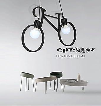 Lámpara colgante de bicicleta de artesanía de hierro Lámpara de ...