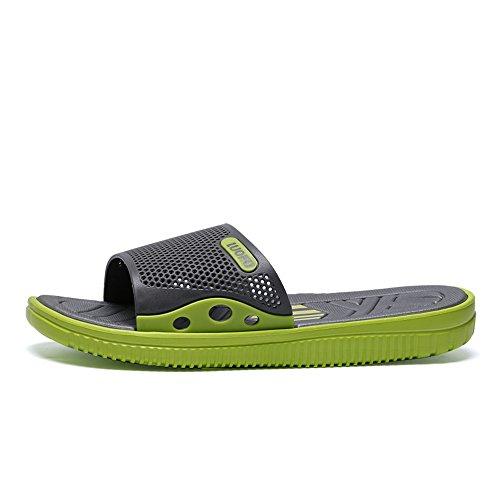 uomo Jiuyue Scarpe piatto Dimensione EU fino Verde Scarpe da alla da da piscina Tacco 43 45EU Verde uomo shoes Color Pantofola Scarpe taglia 4aq4CA